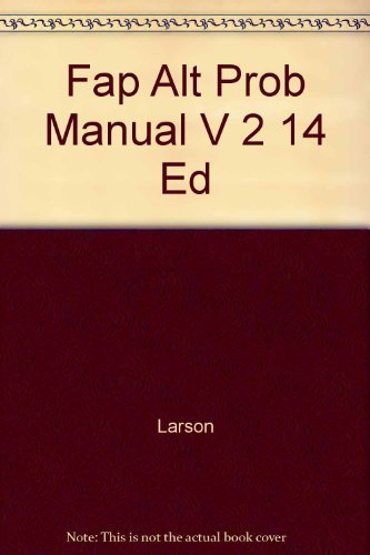 Fundamental Accounting Principles: Alternate Problems : Chapters: Kermit D. Larson,