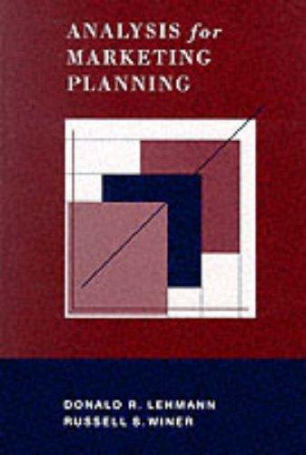9780256214420: Anal Mktg Plan (Irwin Series in Marketing)