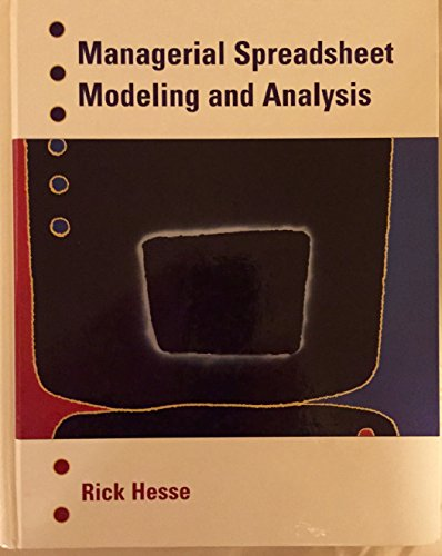 9780256215304: Managerial Spreadsheet Modeling and Analysis (Irwin Series in Quantitative Methods and Management Science.)