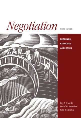 9780256215915: Negotiation: Readings, Exercises and Cases