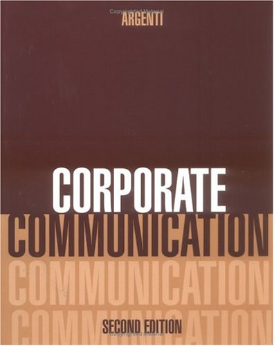 9780256217230: Corporate Communication