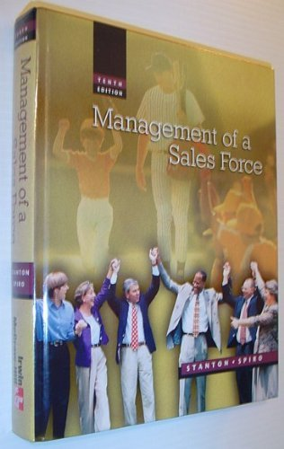 9780256218961: Management of a Sales Force