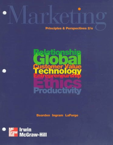 9780256218978: Marketing: Principles and Perspectives (Irwin/McGraw-Hill Series in Marketing)