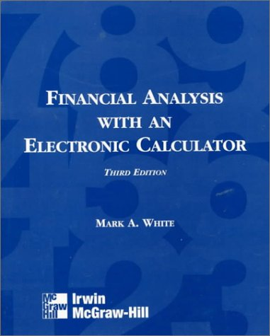 9780256223583: Financial Analysis With an Electronic Calculator