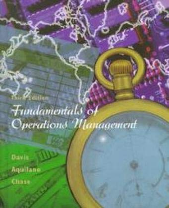 9780256225570: Fundamentals of Operations Management (Irwin/Mcgraw-Hill Series in Operations and Decision Sciences)