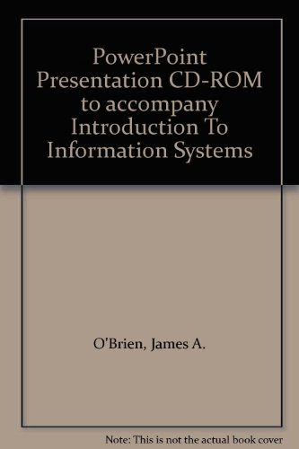 9780256226256: PowerPoint Presentation CD-ROM to accompany Introduction To Information Systems