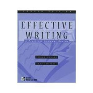 9780256236927: Effective Writing: A Practical Grammar Review