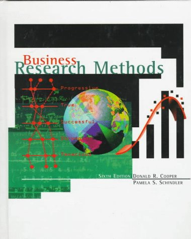 Business Research Methods (The Irwin/McGraw-Hill series, operations: Donald R. Cooper,