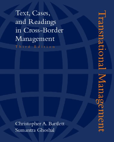 9780256247817: Transnational Management:Text, Cases, and Readings In Cross Border Management