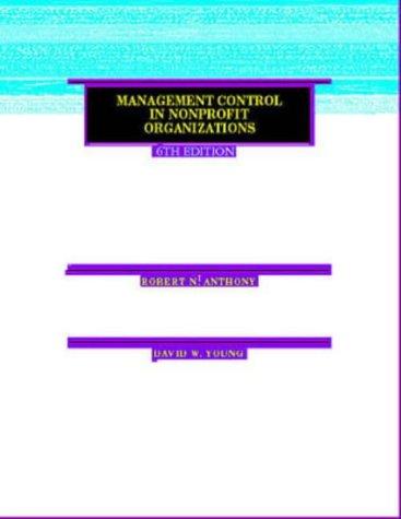 9780256255324: Management Control in Nonprofit Organizations