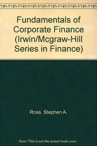 9780256257717: Fundamentals of Corporate Finance (Irwin/Mcgraw-Hill Series in Finance)