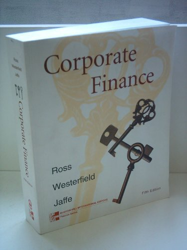9780256261943: Solutions Manual for Corporate Finance