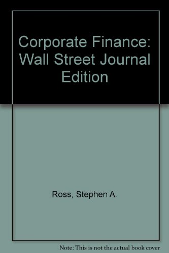 9780256261967: Corporate Finance: Wall Street Journal Edition