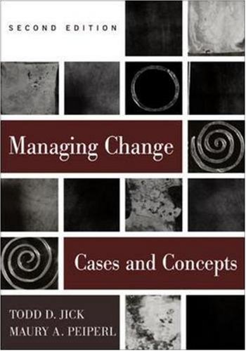 9780256264586: Managing Change: Cases and Concepts