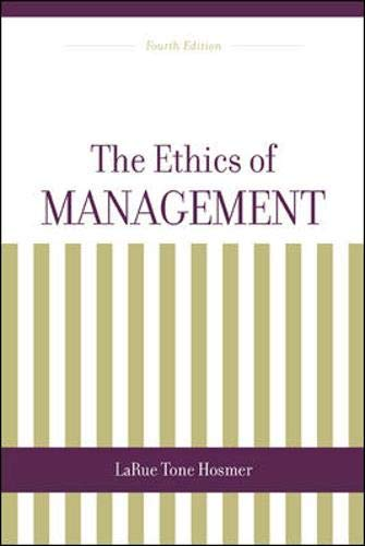 9780256264593: The Ethics Of Management