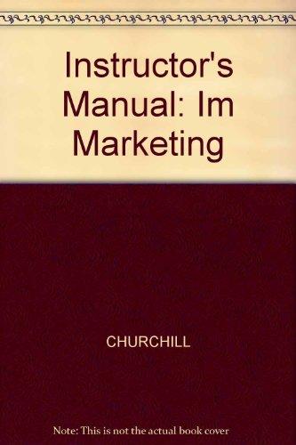 9780256266184: Instructor's Manual: Im Marketing