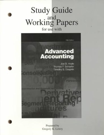 9780256266672: Study Guide/Working Papers for Use With Advanced Accounting