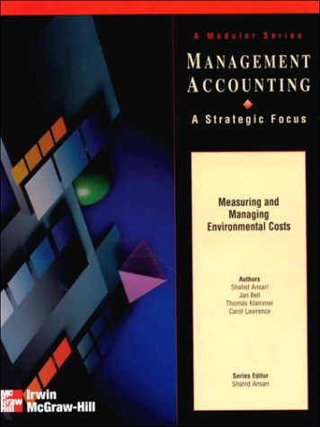 9780256271447: Measuring and Managing Environmental Costs