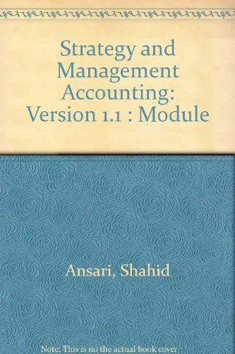 9780256271478: Strategy and Management Accounting: Version 1.1 : Module