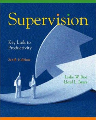9780256271737: Supervision: Key Link to Productivity
