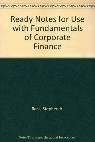 9780256271874: Ready Notes to accompany Fundamentals of Corporate Finance