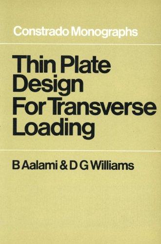 9780258969915: Thin Plate Design for Transverse Loading (Constrado Monographs)