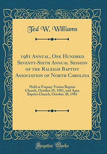 1981 Annual, One Hundred Seventy-Sixth Annual Session: Ted W Williams