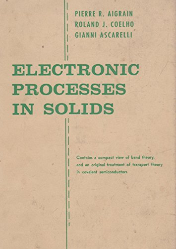 9780262010047: Electronic Processes in Solids (Technology Press Research Monographs)