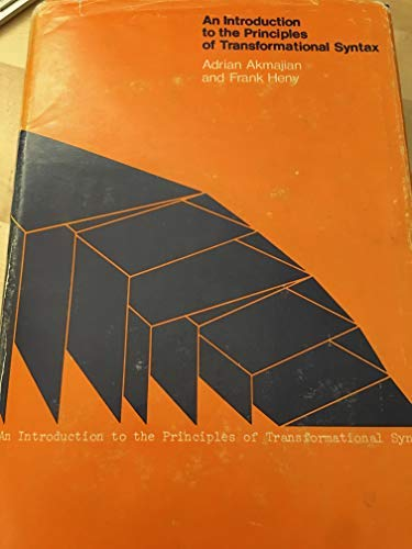 9780262010436: Introduction to the Principles of Transformational Syntax