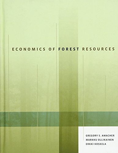 9780262012485: Economics of Forest Resources