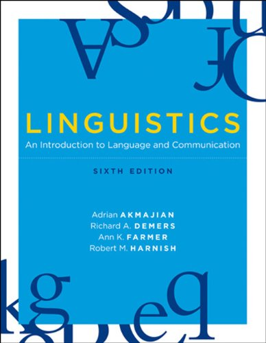 9780262013758: Linguistics: An Introduction to Language and Communication