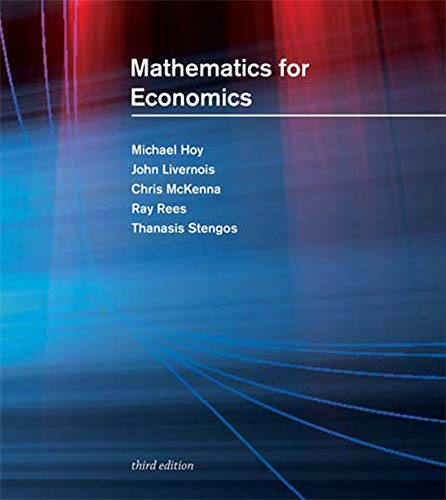 9780262015073: Mathematics for Economics