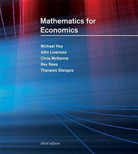 9780262015073: Mathematics for Economics