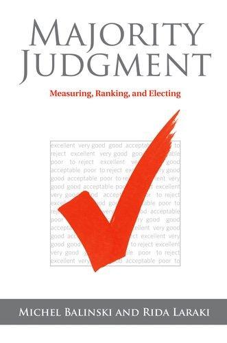 Majority Judgment: Measuring, Ranking, and Electing (Hardback): Michel Balinski, Rida Laraki