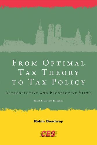 9780262017114: From Optimal Tax Theory to Tax Policy: Retrospective and Prospective Views