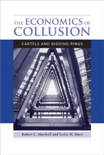 9780262017329: The Economics of Collusion: Cartels and Bidding Rings