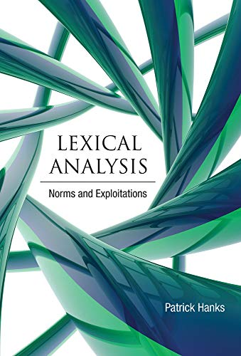Lexical Analysis: Norms and Exploitations (0262018578) by Hanks, Patrick