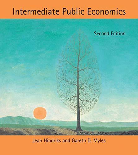 9780262018692: Intermediate Public Economics