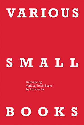 9780262018777: Various Small Books: Referencing Various Small Books by Ed Ruscha