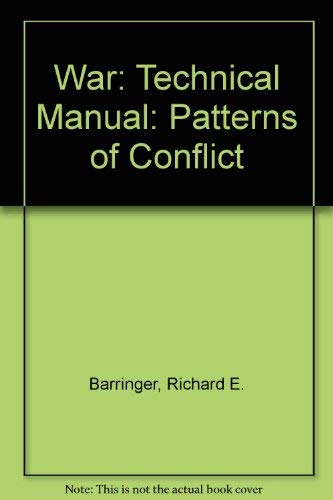 9780262020855: War: Patterns of Conflict: Technical Manual