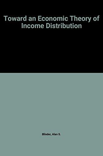 9780262021142: Toward an Economic Theory of Income Distribution