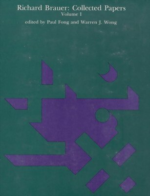 9780262021357: Richard Brauer: Collected Papers, Vol. 1: Theory of Algebras, and Finite Groups (Mathematicians of Our Time)