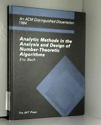 9780262022194: Analytic Methods in the Analysis and Design of Number Theoretic Algorithms (ACM Distinguished Dissertation)