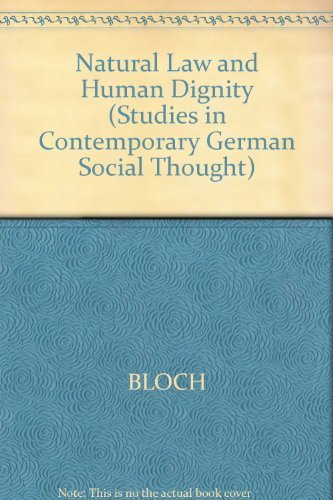 9780262022217: Natural Law and Human Dignity (Studies in Contemporary German Social Thought)