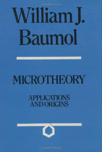 9780262022453: Microtheory : Applications and Origins