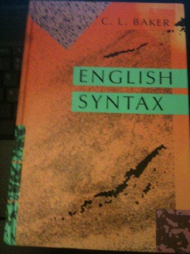 9780262022873: English Syntax