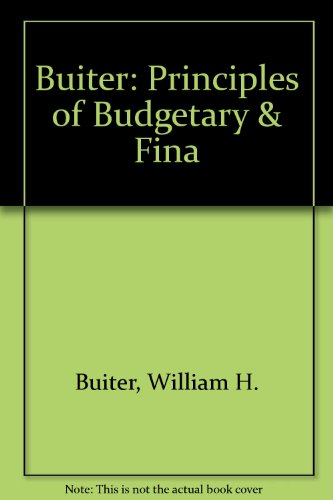 9780262023030: Principles of Budgetary and Financial Policy