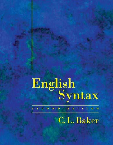 9780262023856: English Syntax