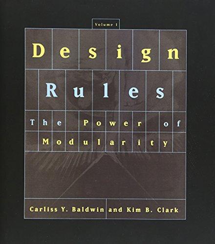 Design Rules: Baldwin, Carliss Y.; Clark, Kim B.