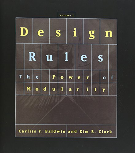 9780262024662: Design Rules, Vol. 1: The Power of Modularity